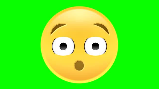 vidéos et rushes de wow emoji - émoticon