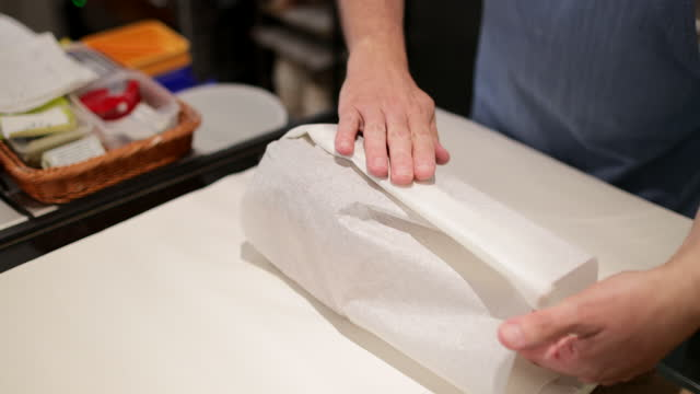 wrapping fresh bread - tissue paper stock videos & royalty-free footage