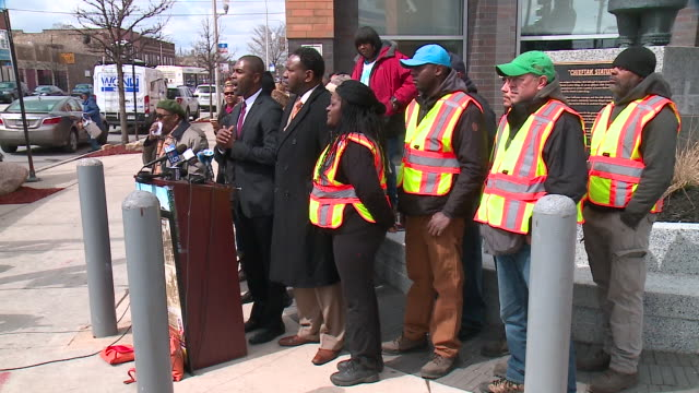 wgn a wreath laying ceremony was held on chicago's west side on april 4 to honor dr martin luther king jr on the 50th anniversary of his... - assassination stock videos and b-roll footage