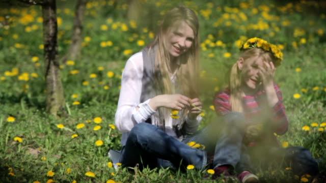 Wreath of dandelions