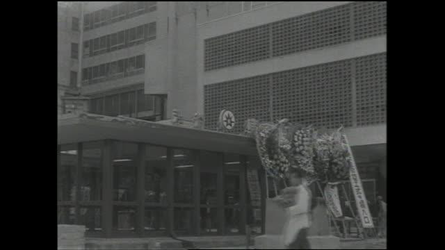 wreaths decorate the entrance of the shibuya station. - 地下鉄駅点の映像素材/bロール