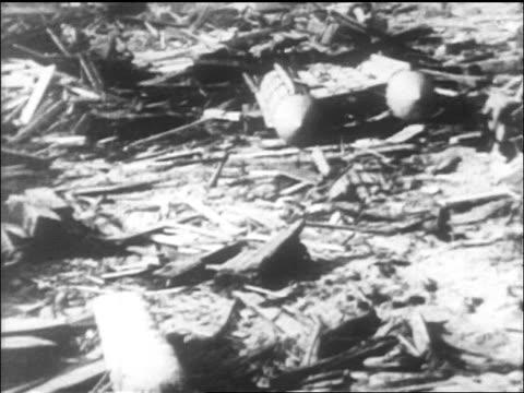 stockvideo's en b-roll-footage met wreckage of lusitania disaster on shore of ireland / newsreel - scheepswrak