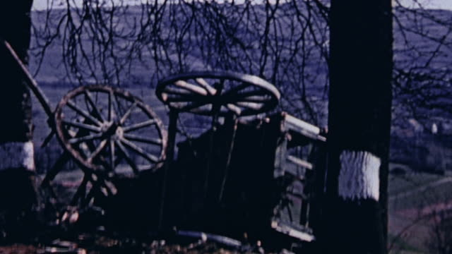 wrecked german equipment and wagons / wesel germany - damaged stock videos & royalty-free footage