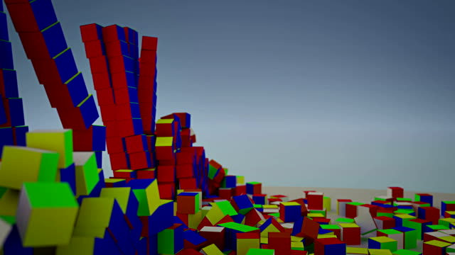 wrecking ball color cubes - chain object stock videos & royalty-free footage