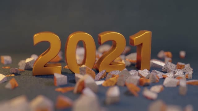vídeos de stock e filmes b-roll de wrecking new year change 2020 to 2021 - the end