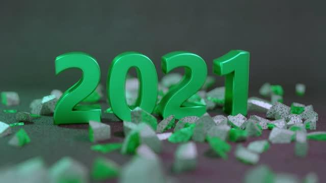 verheerender neujahrswechsel 2020 bis 2021 - zerstört stock-videos und b-roll-filmmaterial