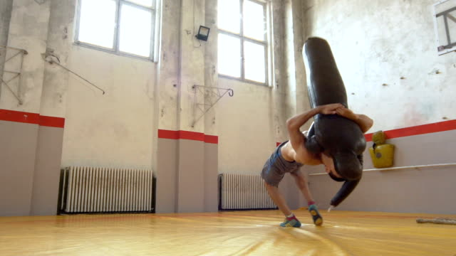 Wrestling training montage