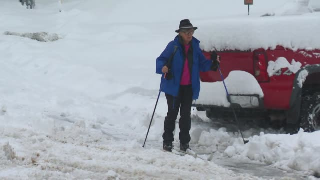 ktla wrightwood snow - angeles national forest stock videos and b-roll footage