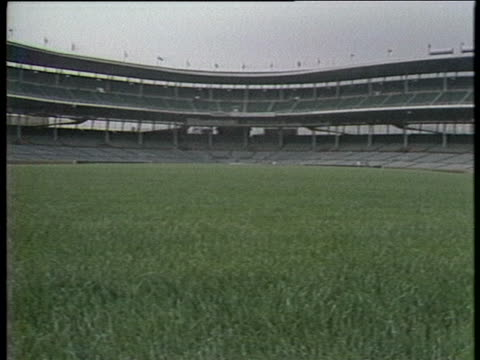 wrigley field in chicago, illinois is completely empty because the game is cancelled due to the major league baseball strike. ext day completely... - sport stock videos & royalty-free footage