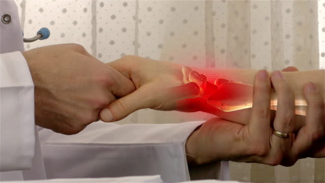 wrist pain - 4k resolution - pain stock videos & royalty-free footage