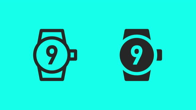 Wristwatch Countdown Icons - Vector Animate