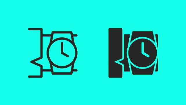 Wristwatch Icons - Vector Animate