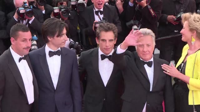 writer director noah baumbach walked the cannes red carpet with the stars of his film the meyerowitz stories featuring dustin hoffman emma thompson... - noah baumbach stock videos and b-roll footage