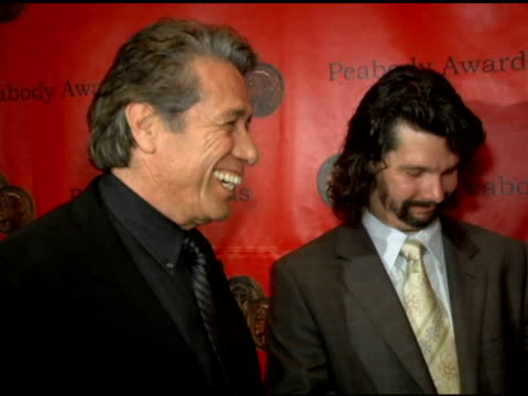 writer ronald d moore, grace park and jamie bamber of 'battlestar gallactica' at the 65th annual peabody awards at the waldorf astoria hotel in new... - waldorf astoria new york stock videos & royalty-free footage
