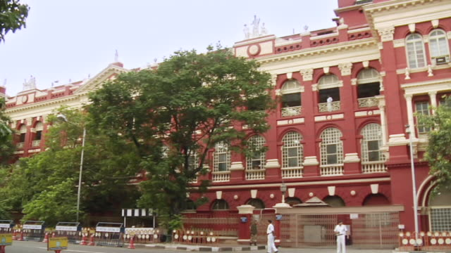 ms pan writers' building of government in kolkata / kolkata, west bengal, india - kolkata stock videos & royalty-free footage