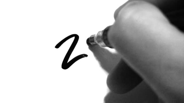 writing 2011 on paper - writing instrument stock videos & royalty-free footage