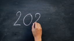 writing 2020 on blackboard