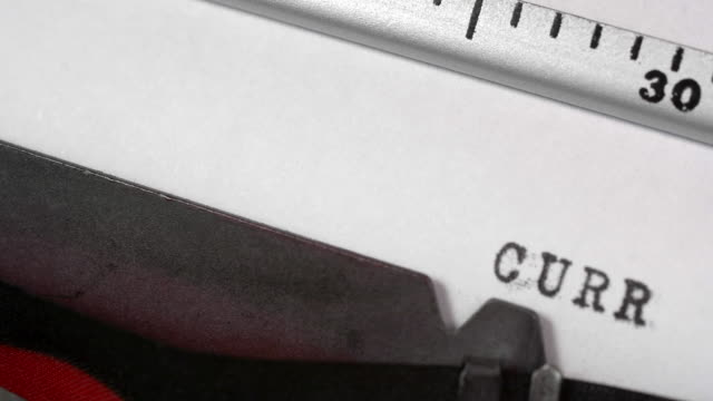 writing a curriculum vitae on an old typewriter. - job search stock videos and b-roll footage
