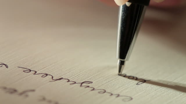 writing a letter - letter document stock videos & royalty-free footage