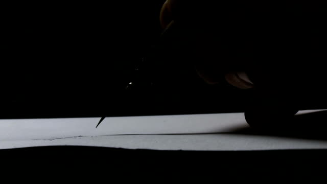 writing a letter - pen and ink stock videos & royalty-free footage