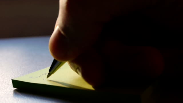 writing notes - to do list stock videos & royalty-free footage