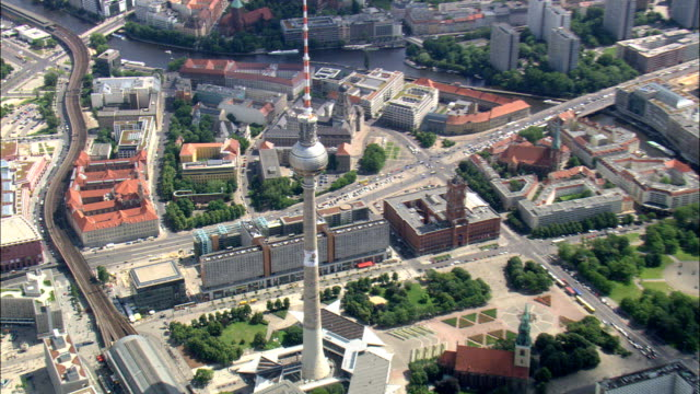 Writing On Communications Tower  - Aerial View - Berlin,  Berlin,  Stadt,  Germany