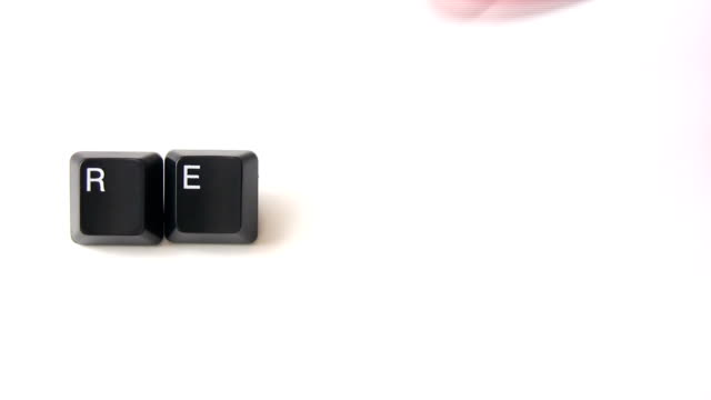 "Writing ""resume"" with keyboard keys.HD 1080i."