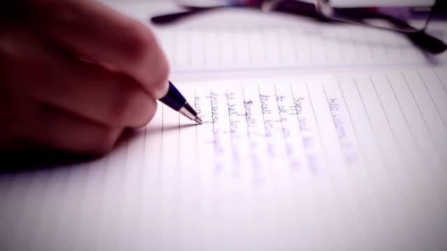 vídeos de stock, filmes e b-roll de por escrito - correspondência
