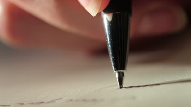 writing with a pen - letter document stock videos & royalty-free footage