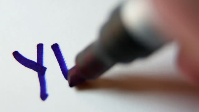 """writing """"yes"""" - felt tip pen stock videos & royalty-free footage"""