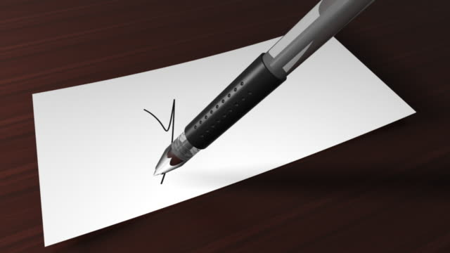 """writing """"yes""""with a pen - yes single word stock videos & royalty-free footage"""