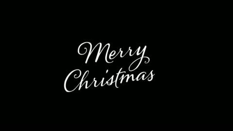 skriftliga merry merry christmas vintage kalligrafi text isolerad på alfakanal. bokstäver blomstra element. jullov - maskinskriven text bildbanksvideor och videomaterial från bakom kulisserna