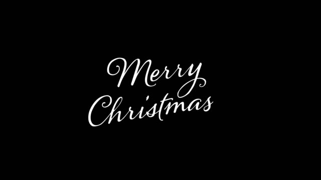 written merry merry christmas vintage calligraphy text isolated on alpha channel. lettering flourish elements. christmas holiday - engraved image stock videos and b-roll footage