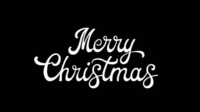 written merry merry christmas vintage calligraphy text isolated on alpha channel. lettering flourish elements. christmas holiday - typescript stock videos & royalty-free footage