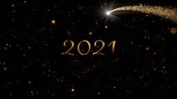 2021 written over glowing lights