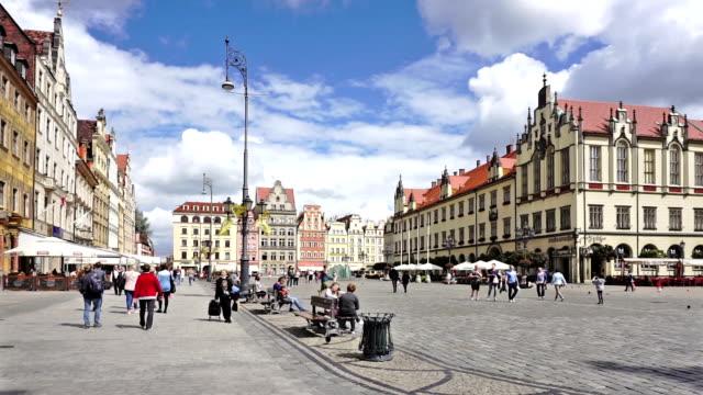 wroclaw - スクエア点の映像素材/bロール