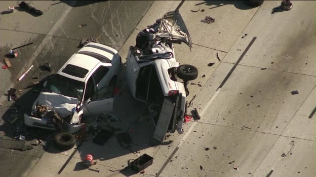 WrongWay Driver Causes Massive Freeway PileUp on June 17 2013 in Palmdale California