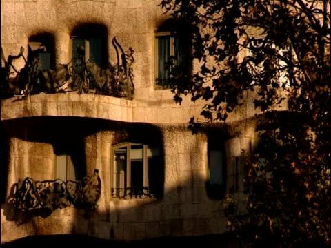 Wrought iron balconies adorn the facade of La Pedrera.