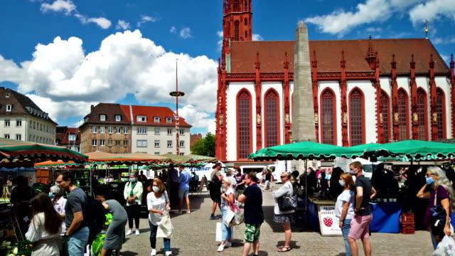 vidéos et rushes de würzburg - famous place
