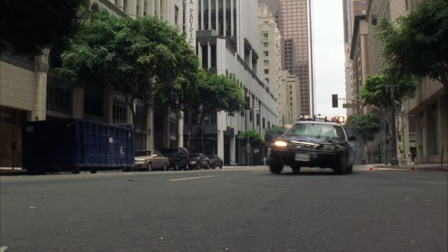 Ws Police car at grand avenue / Los Angeles, California, USA