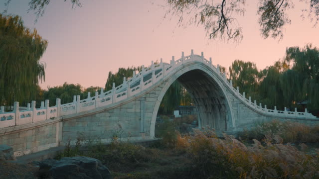 WS_Arch bridge over Kunming Lake at sunset in Summer Palace, UNESCO World Heritage Site, Beijing, China