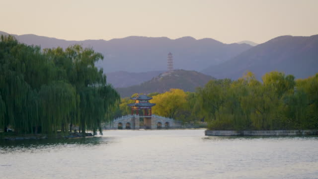 WS_Kunming Lake with arch bridge in Summer Palace, UNESCO World Heritage Site, Beijing, China