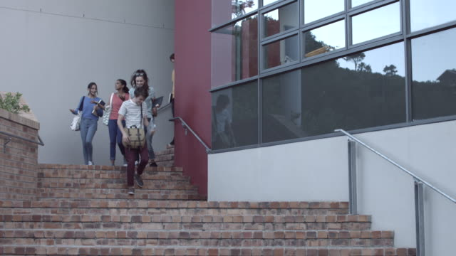 WS_Students walking out of school building