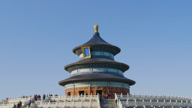vidéos et rushes de wsêhall of prayer for good harvests, temple of heaven, unesco world heritage site, beijing, china - temple du ciel