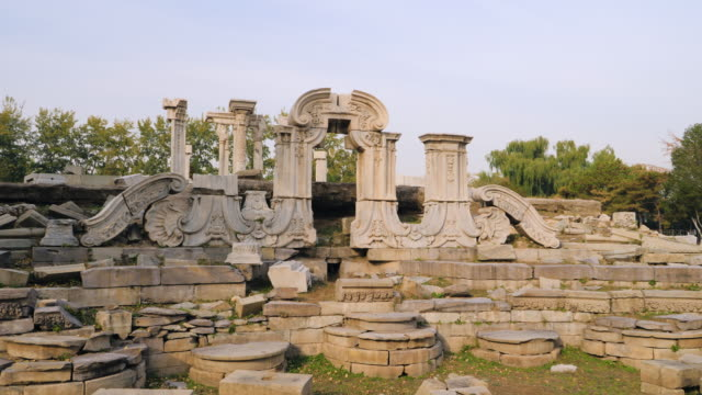 wsêold ruins inêold summer palace, beijing, china - summer palace beijing stock videos & royalty-free footage