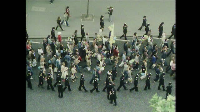 wss gay pride march in london, uk; 1979 - politics and government stock videos & royalty-free footage