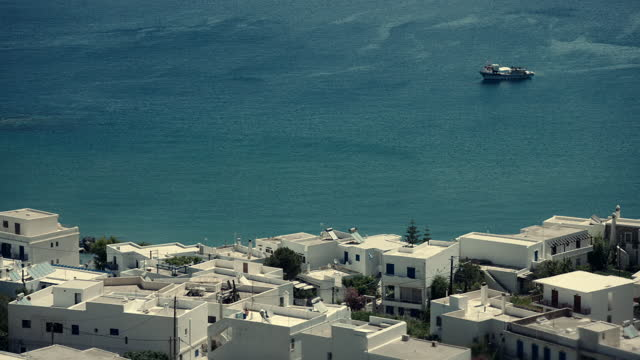 wss of naxos, greece, on a sunny day - cyclades islands stock videos & royalty-free footage