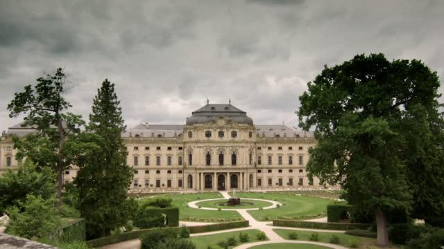 vídeos de stock, filmes e b-roll de wss würzburg residence, bavaria, germany - sc47