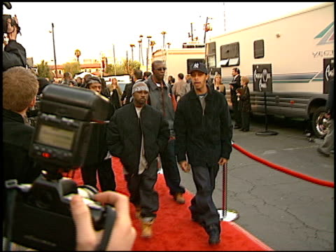 Wu Tang Clan at the 1999 American Music Awards entrances at the Shrine Auditorium in Los Angeles California on January 11 1999