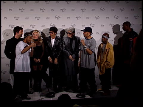 Wu Tang Clan at the 1999 American Music Awards press room at the Shrine Auditorium in Los Angeles California on January 11 1999